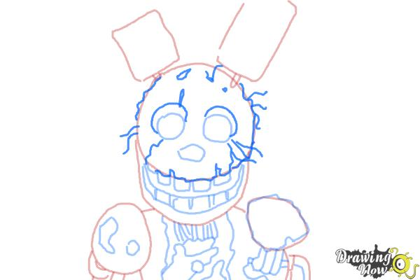 How to Draw Springtrap from Five Nights at Freddy's 3 - Step 8