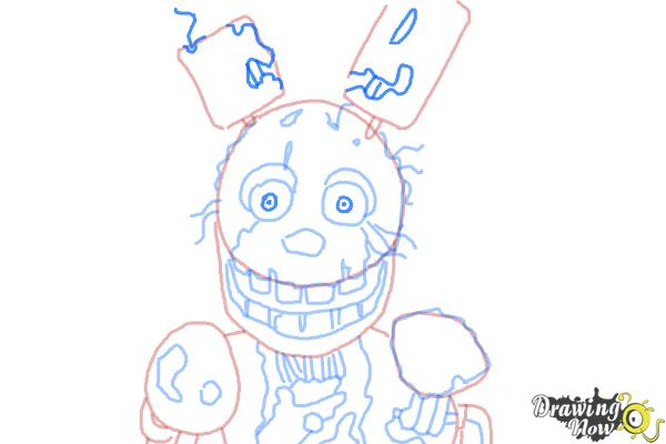 How to Draw Springtrap from Five Nights at Freddy's 3 - Step 9