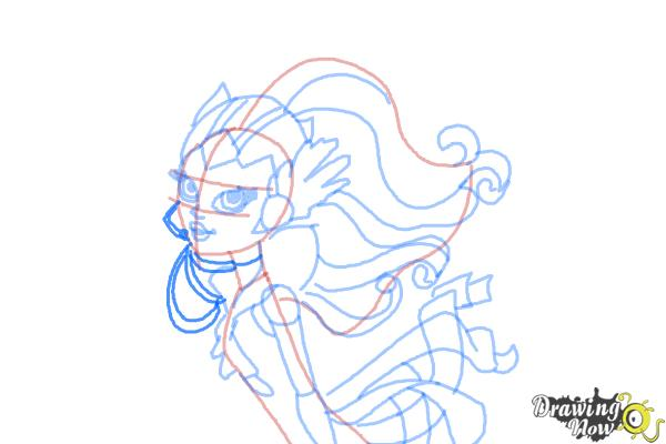 How to Draw Astranova from Monster High - Step 10