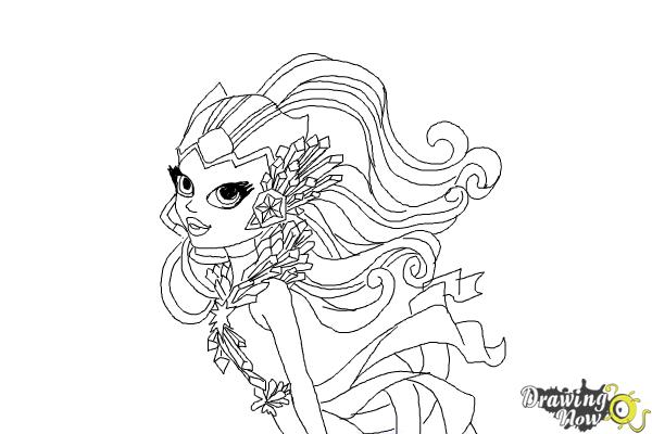 How to Draw Astranova from Monster High - Step 11