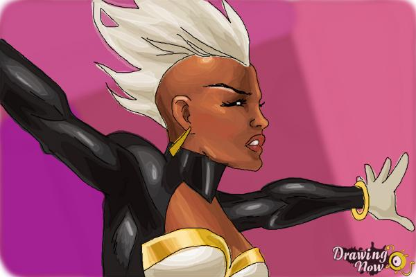 How to Draw Storm 2015 from Marvel - Step 11