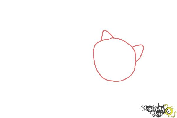 How to Draw Mochi from Big Hero 6 - Step 1