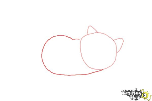 How to Draw Mochi from Big Hero 6 - Step 2