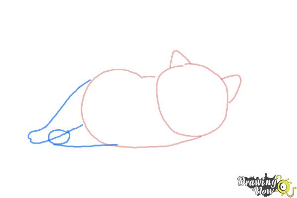 How to Draw Mochi from Big Hero 6 - Step 3