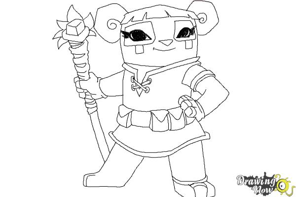 Animal Jam Coloring Pages - Coloring Home | 400x600