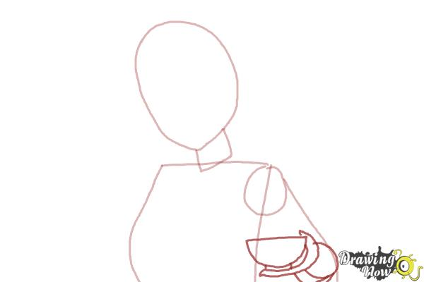 How to Draw Akagi from Kantai Collection - Step 3