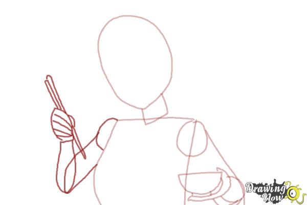 How to Draw Akagi from Kantai Collection - Step 4