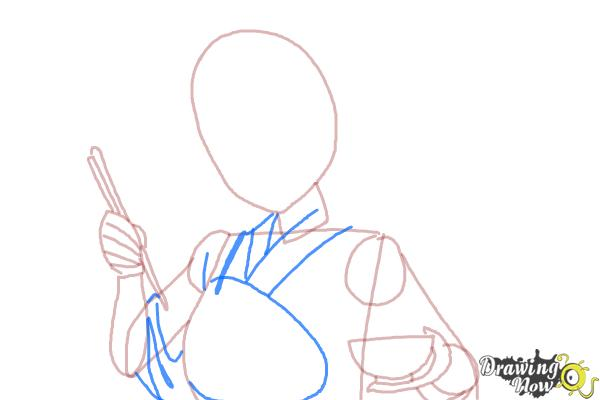How to Draw Akagi from Kantai Collection - Step 5