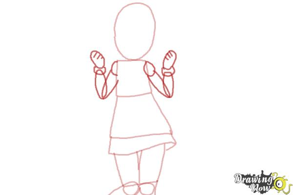 How to Draw Nyaa-Tan from Etotama - Step 3