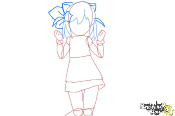 How to Draw Nyaa-Tan from Etotama - Step 5