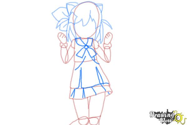 How to Draw Nyaa-Tan from Etotama - Step 6