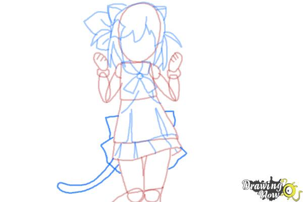 How to Draw Nyaa-Tan from Etotama - Step 7