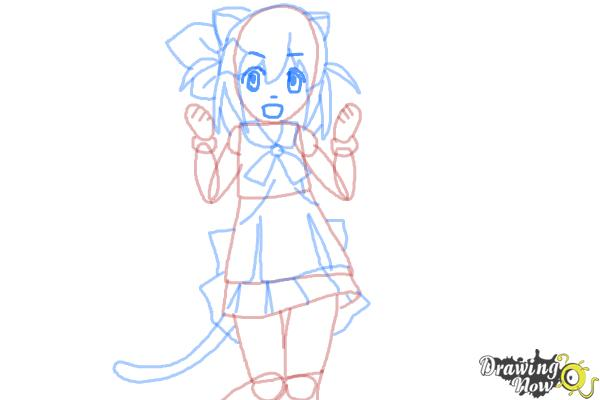 How to Draw Nyaa-Tan from Etotama - Step 8