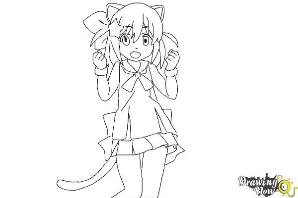How to Draw Nyaa-Tan from Etotama - Step 9