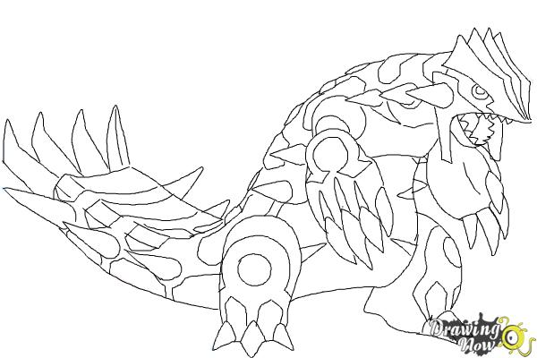 Primal Kyogre Coloring Page how to draw primal groudon from pokemon | drawingnow