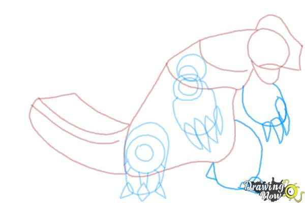 How to Draw Primal Groudon from Pokemon - Step 6