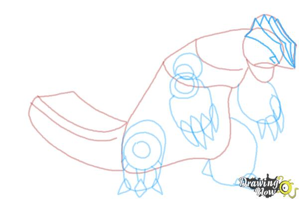 How to Draw Primal Groudon from Pokemon - Step 7
