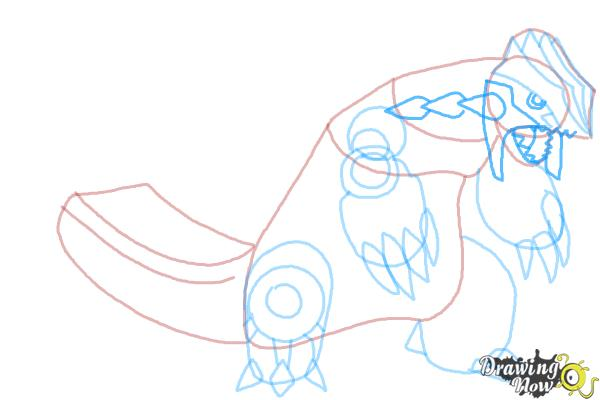 How to Draw Primal Groudon from Pokemon - Step 8