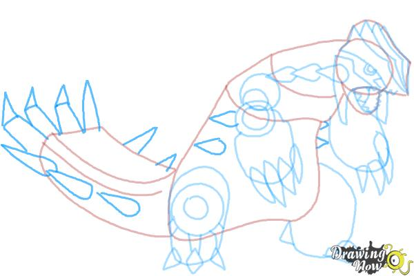 How to Draw Primal Groudon from Pokemon - Step 9