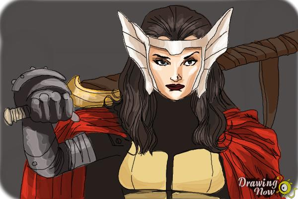 How to Draw Sif from Marvel - Step 10