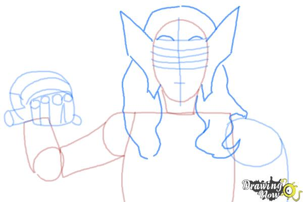 How to Draw Sif from Marvel - Step 4