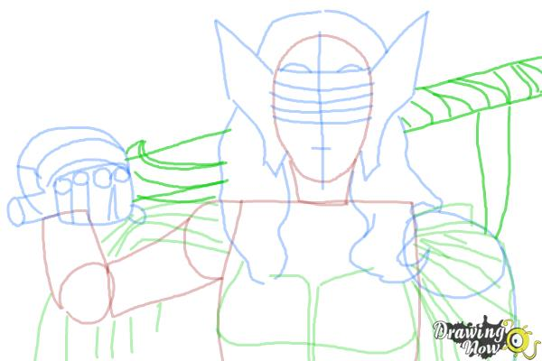 How to Draw Sif from Marvel - Step 6