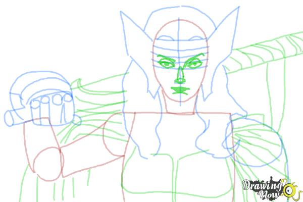 How to Draw Sif from Marvel - Step 7