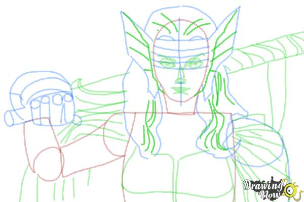How to Draw Sif from Marvel - Step 8