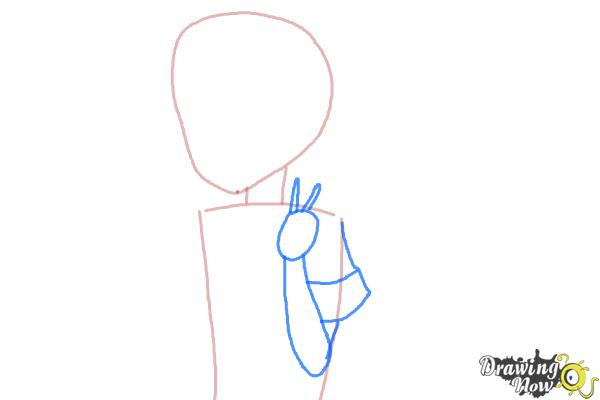 How to Draw Fubuki from Kantai Collection - Step 3