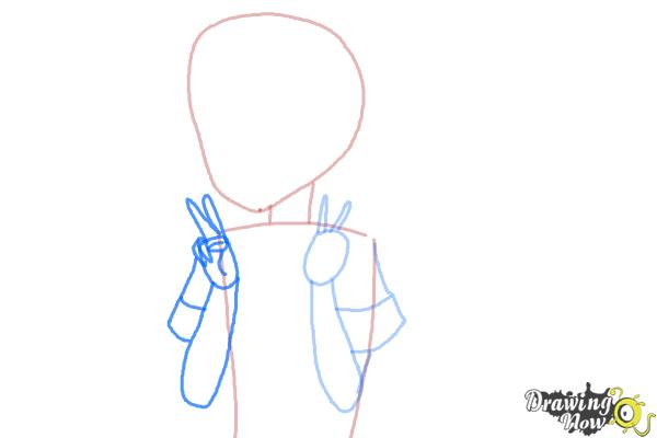 How to Draw Fubuki from Kantai Collection - Step 4