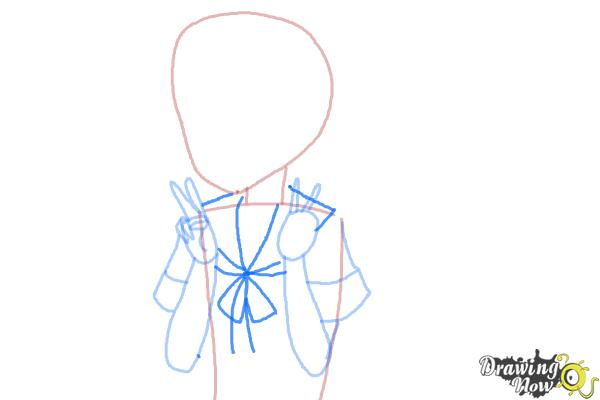 How to Draw Fubuki from Kantai Collection - Step 5