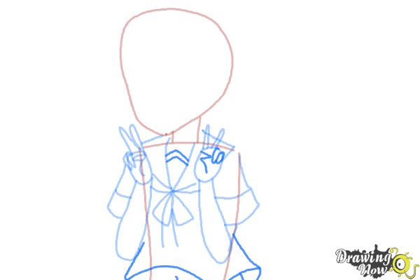 How to Draw Fubuki from Kantai Collection - Step 6