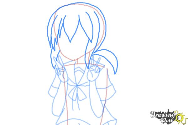 How to Draw Fubuki from Kantai Collection - Step 7
