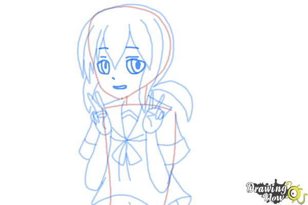 How to Draw Fubuki from Kantai Collection - Step 8
