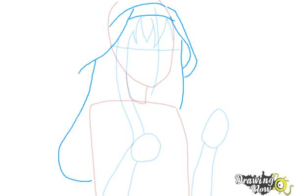 How to Draw Kongou from Kantai Collection - Step 5