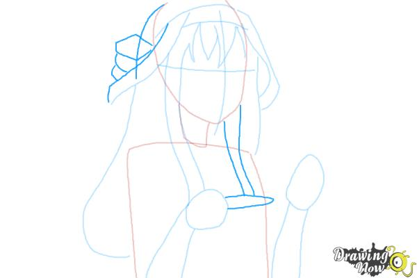 How to Draw Kongou from Kantai Collection - Step 6