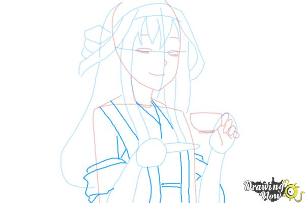 How to Draw Kongou from Kantai Collection - Step 9