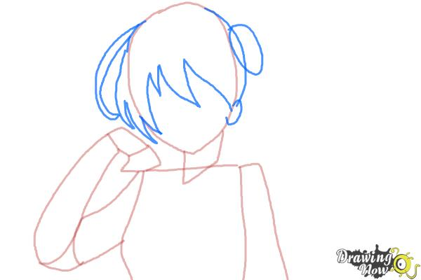 How to Draw Kaga from Kantai Collection - Step 4