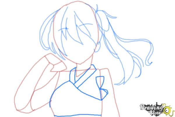 How to Draw Kaga from Kantai Collection - Step 6