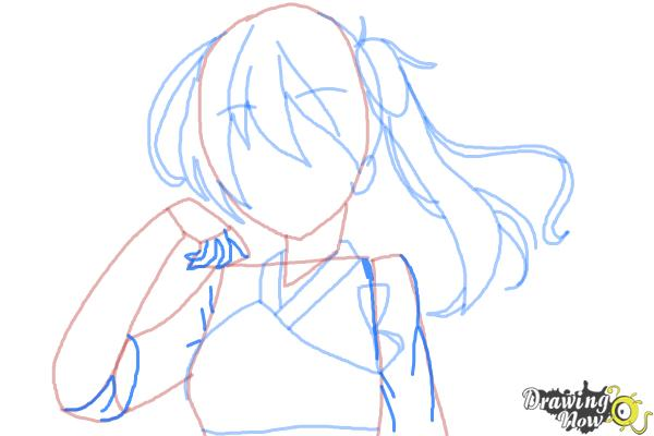 How to Draw Kaga from Kantai Collection - Step 7