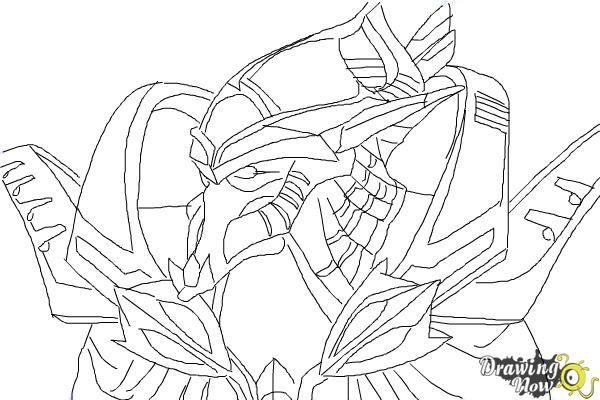 How to Draw Artanis from Starcraft - Step 10