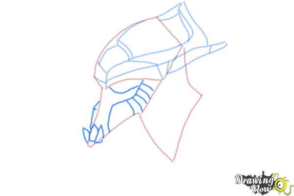 How to Draw Artanis from Starcraft - Step 4