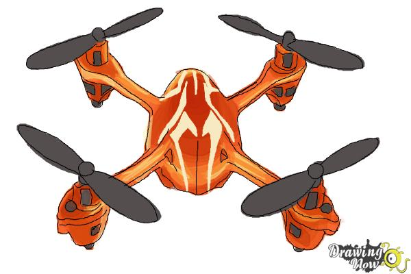 how to draw a drone step by step