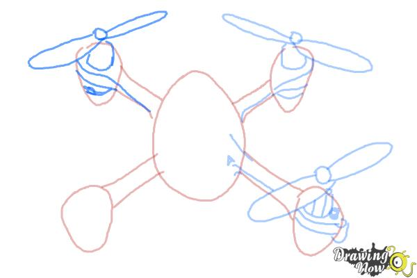 How to Draw a Drone - Step 6