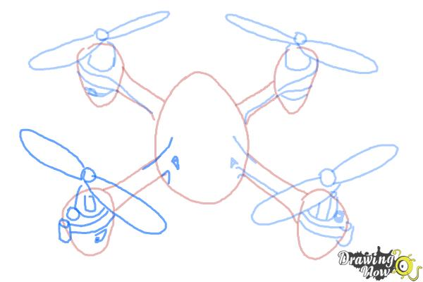 How to Draw a Drone - Step 7