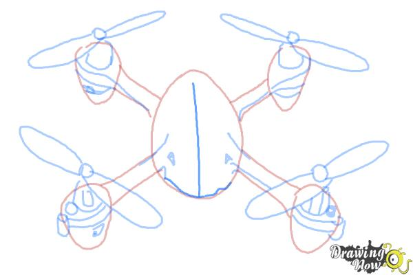 How to Draw a Drone - Step 8