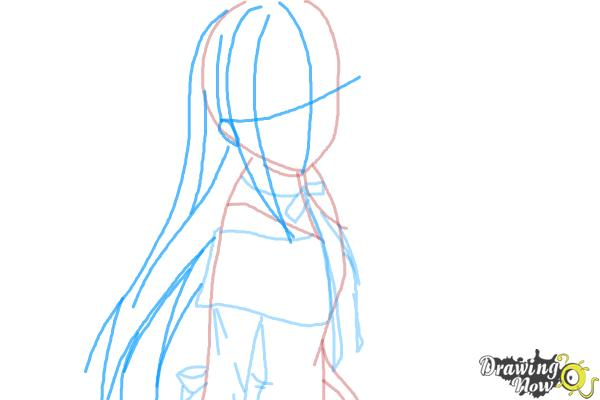 How to Draw Homura Akemi from Puella Magi - Step 5
