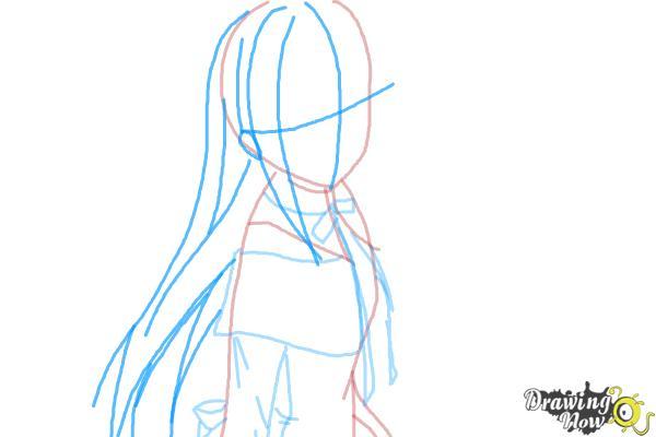 How to Draw Homura Akemi from Puella Magi - Step 5