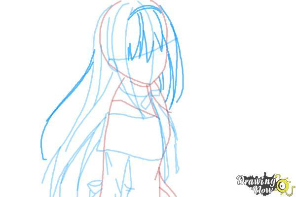 How to Draw Homura Akemi from Puella Magi - Step 6