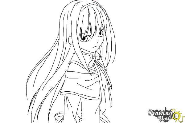 How to Draw Homura Akemi from Puella Magi - Step 8